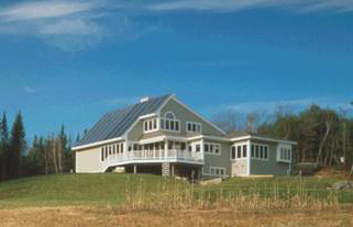 SDA designed this private residence in Maine to be totally energy self-reliant
